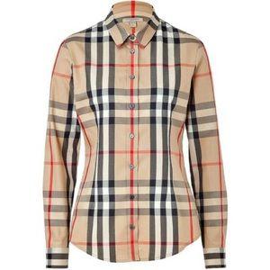 Burberry Brit Checkered Button Down Logo Shirt